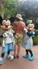 Micky and Minnie Checking Out Dad's Tattoo at Aulani