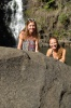 Lauren and Meagan at Waimea Falls